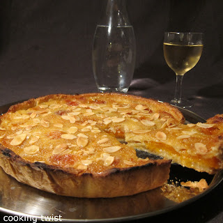 French Style Apricot and Almond Pie