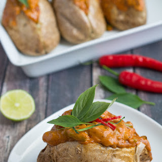 Thai Red Curry Baked Potato.