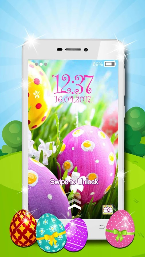 Easter Lock Screen Wallpaper- screenshot