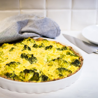 Vegan Broccoli Quiche.