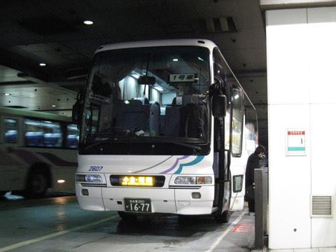名鉄バス「どんたく号」 2607 西鉄天神BC到着