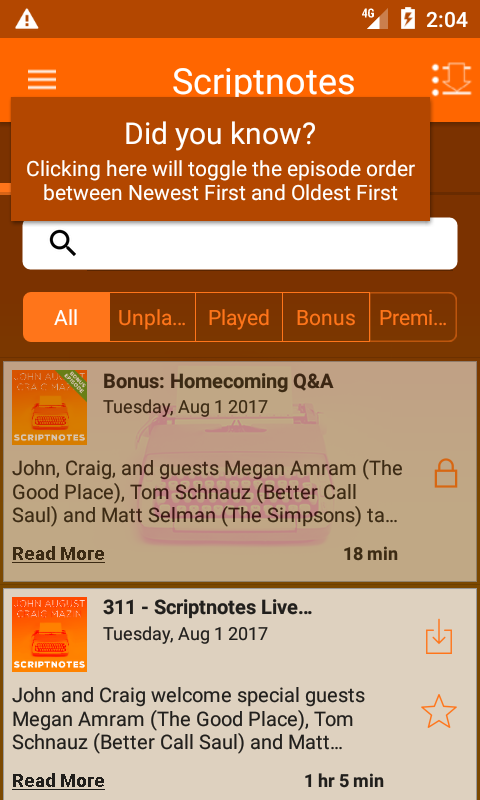Scriptnotes- screenshot