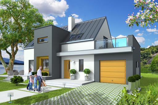 projekt Lenka z garażem 1-st. A