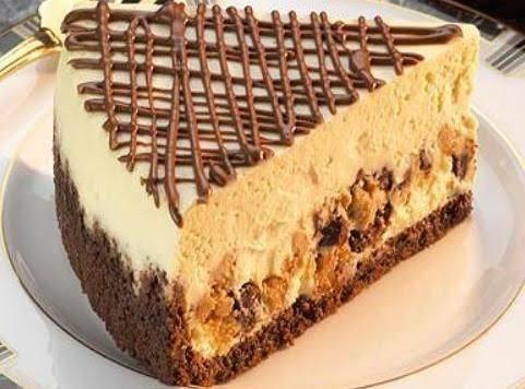 Hershey's Peanut Butter & Milk Chocolate Layered Cheesecake