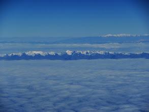 Photo: Andenansicht beim Anflug auf Santiago de Chile