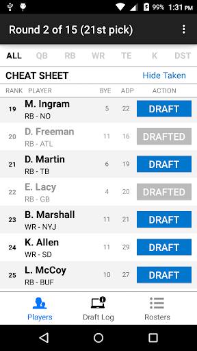 Fantasy Football Draft Wizard screenshot 3