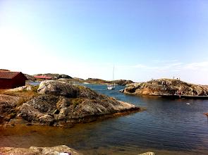 Photo: Rocks and sea.