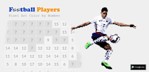 Pixel Football Player Coloring Pages By Number Aplikacije