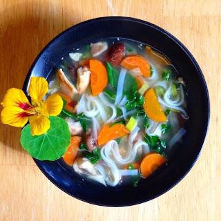Miso Soup with Rice Noodles Recipe (Vegan, Low Fat + Gluten Free!).