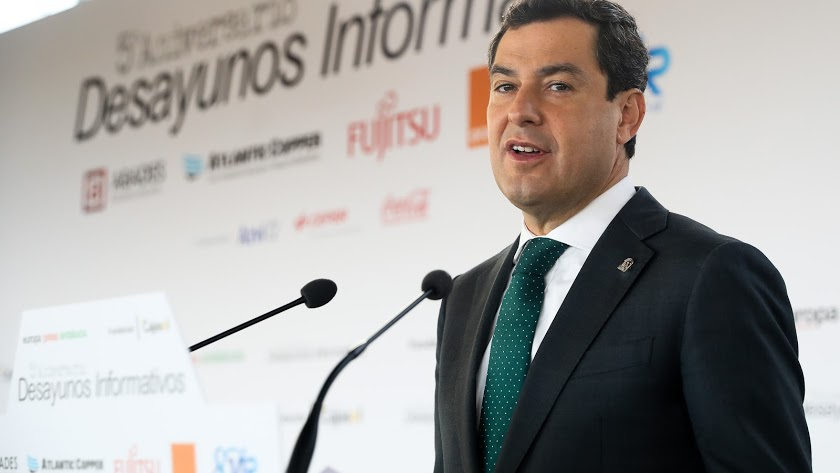 Juanma Moreno en una imagen de archivo.