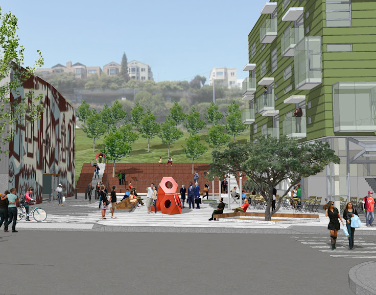 Artist rendering of Dogpatch Arts Plaza. Courtesy of CMG Landscape Architecture.
