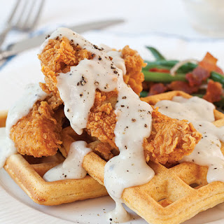 Chicken and Waffles with Sage Gravy.