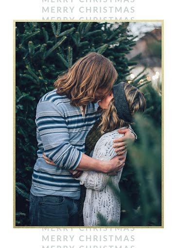 Merry Christmas Kisses - Christmas Card Template