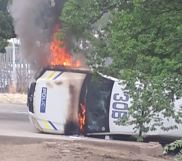 One man has been arrested in connection with violent protests in Senekal, police said on Wednesday.
