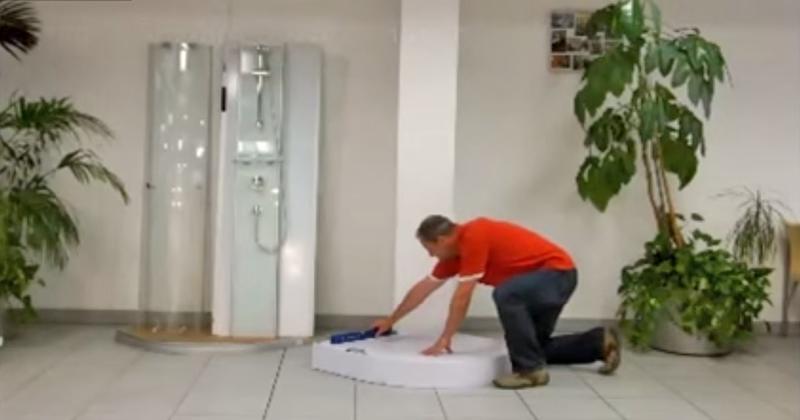 Video: Wellnessduschkabine Montage