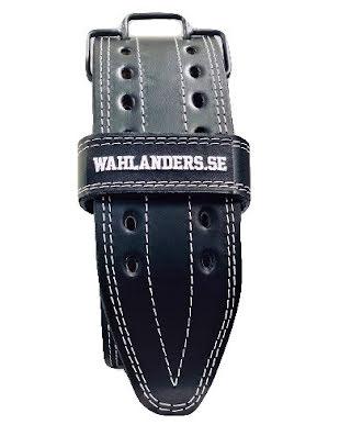 Wahlanders Bälte svart med vit söm