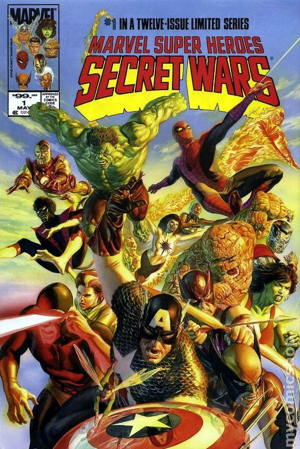 "Alex Ross' adapted ""secret wars"" #1 cover"