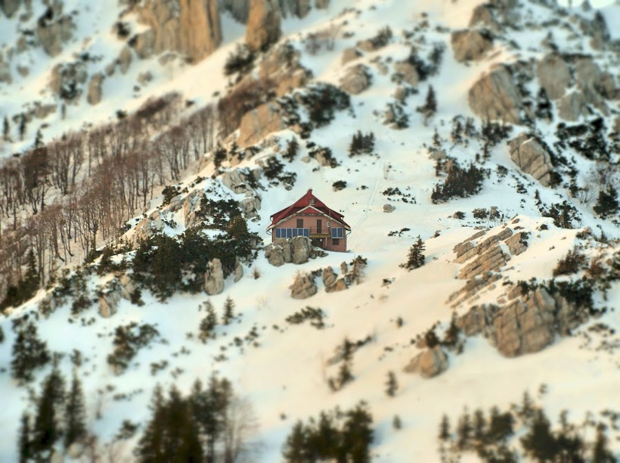 Ris Hut by Kazimir Volta - Landscapes Mountains & Hills ( winter, peaceful, heaven, secluded, hut, snow, solitude, remote )