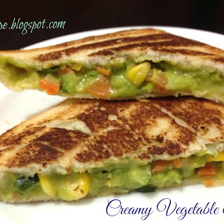 Creamy Vegetable Sandwich