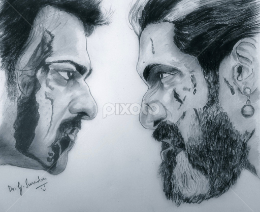 Baahubali 2 by surender gangineni drawing all drawing love epic battle
