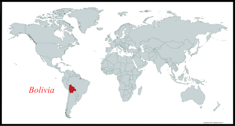 where is bolivia on world map