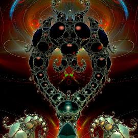 Biloquey by Rick Eskridge - Illustration Sci Fi & Fantasy ( jwildfire, mb3d, fractal, acdsee 19, twisted brush )
