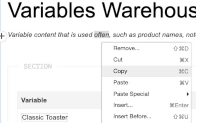 easyDITA Copy Paste for 17.1+