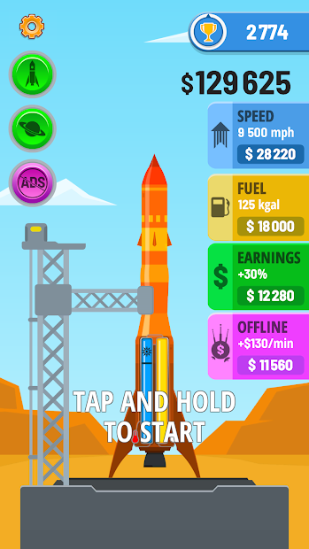 Rocket Sky! Android App Screenshot