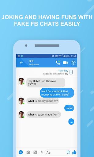Funny chats - fake messenger 1.0.4 screenshots 5