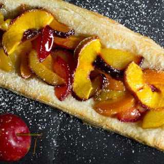 Summer Stone Fruit Tart.