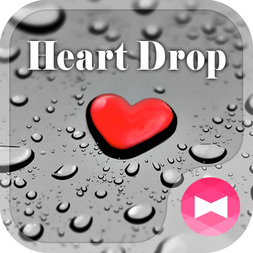 Stylish Wallpaper Heart Drop Theme Icon