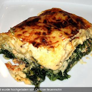 Lachs - Spinat - Lasagne