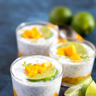 Mango Lime Chia Pudding.