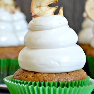 Applesauce Cupcakes with Maple Brown Sugar Cloud Frosting.
