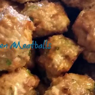 Thai Chicken Meatballs.