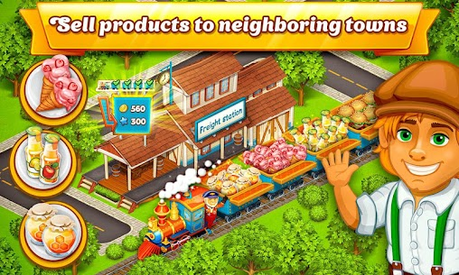 Cartoon City: farm to village. Build your home 9