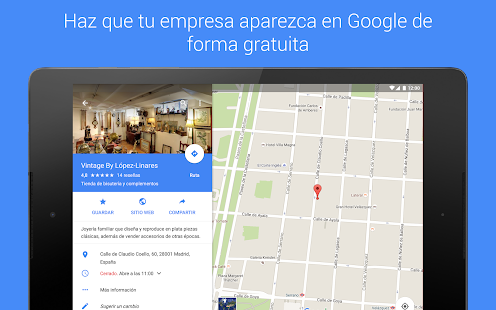 Google My Business: miniatura de captura de pantalla