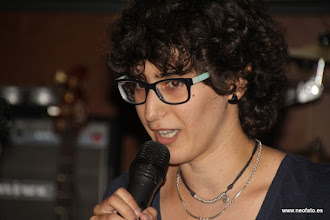 "Photo: 28J Huesca. 26.06.2015 Sandra Blasco y Amparo Bella. Presentación documental ""Transiciones Feministas"" Sandra Blasco"