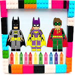 Coloring book for BAT-LEGO