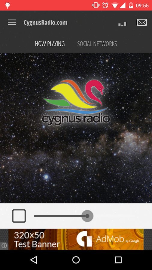 CygnusRadio.com- screenshot