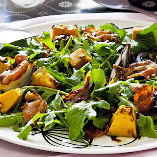 Roasted Pumpkin, Pancetta and Arugula Salad