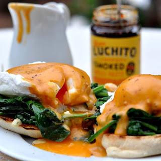 Gran Luchito Eggs Florentine with Smoked Chilli Hollandaise.