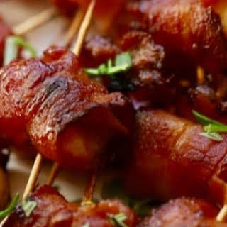 Easy Marinated Bacon Wrapped Scallops.