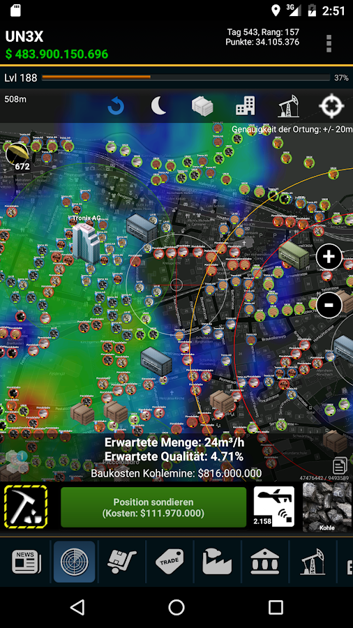 Resources - GPS MMO Game – Screenshot