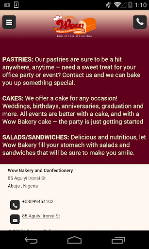 Wow Bakery Confectionery