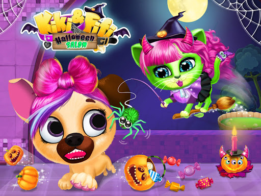 Kiki & Fifi Halloween Salon - Scary Pet Makeover 3.0.25 screenshots 12