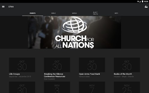 Church for All Nations App- screenshot thumbnail