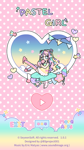 Pastel Girl : Dress Up Game Android App Screenshot