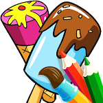 Color Me Ice Cream - Sweet Treat Summer Fun Icon