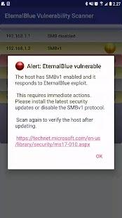 EternalBlue Vulnerability Scanner - náhled